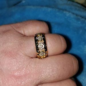Beautiful NWOT NEW 14kt filled Diamand ring